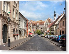 Castle District In Budapest Acrylic Print by Artur Bogacki