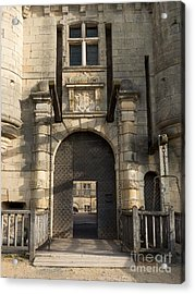 Acrylic Print featuring the photograph Castle Drawbridge Entry by Paul Topp