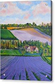 Castle Farm Shoreham Kent Lavender Fields England Acrylic Print