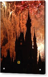 Acrylic Print featuring the photograph Castle Fire Show by David Nicholls