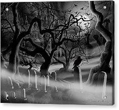 Castle Graveyard Acrylic Print by James Christopher Hill