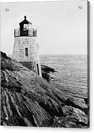 Castle Hill Bw 1 Acrylic Print by Marianne Campolongo