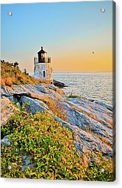 Castle Hill Lighthouse 1 Newport Acrylic Print by Marianne Campolongo