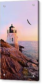 Castle Hill Lighthouse 2 Newport Acrylic Print by Marianne Campolongo
