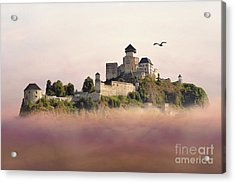 Castle In The Air IIi. - Trencin Castle Acrylic Print by Martin Dzurjanik