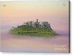 Castle In The Air. - Spis Castle Acrylic Print by Martin Dzurjanik