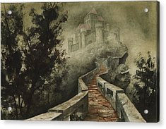 Castle In The Mist Acrylic Print by Sam Sidders