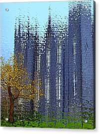 Acrylic Print featuring the digital art Castle by Nina Bradica