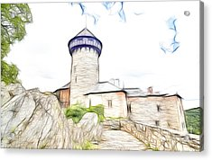 castle of the holy order - Sovinec castle Acrylic Print by Michal Boubin