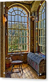 Castle Office Acrylic Print by Susan Candelario
