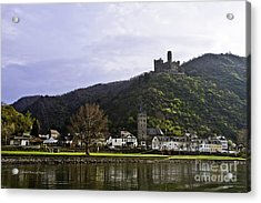 Castle On Hill Above Town Acrylic Print