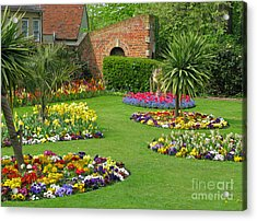 Castle Park Gardens  Acrylic Print by Ann Horn