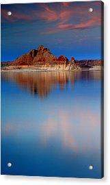 Castle Rock Reflections Acrylic Print by Eric Foltz