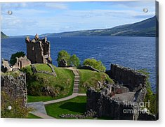 Castle Ruins On Loch Ness Acrylic Print