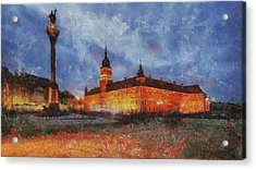 Castle Square In Warsaw Acrylic Print
