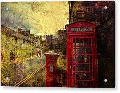 Castle Steet Conwy Acrylic Print by Mal Bray