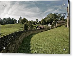 Castle Wall In Tittmoning Germany Acrylic Print