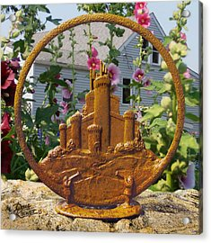 Acrylic Print featuring the pyrography Castles In The Sky by Doug Kreuger