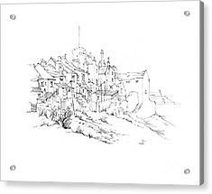 Castletown Coastal Houses Acrylic Print