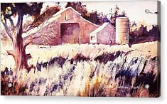 Acrylic Print featuring the painting Castroville Barn by John  Svenson