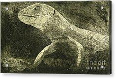 casual meeting Reptile Viviparous Lizard  Lacerta vivipara Acrylic Print
