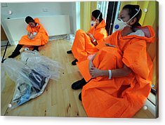 Casualties At Major Emergency Training Acrylic Print by Public Health England