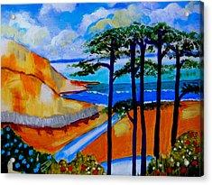 Caswell Bay Wales Acrylic Print