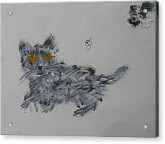 Acrylic Print featuring the painting Cat by AJ Brown