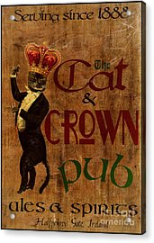 Cat And Crown Pub Acrylic Print by Cinema Photography