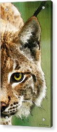 Cat Art - Lynx 2 Acrylic Print by Sharon Cummings