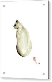 Cat Little Kittlen Syjamese White Cappuccino Black Grey Brown Meow Acrylic Print