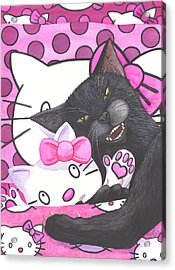 Cat Nap Acrylic Print by Catherine G McElroy