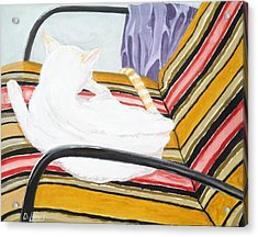 Cat Painting Acrylic Print