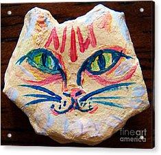 Cat Rock Acrylic Print by Judy Via-Wolff