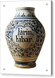 Catalan Ceramic Jar For Putting Wheat Acrylic Print by Everett