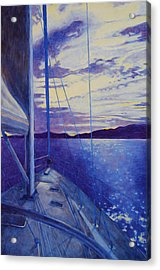Acrylic Print featuring the painting Catalina by Andrew Danielsen