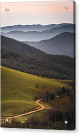 Cataloochee Valley Sunrise Acrylic Print by Serge Skiba