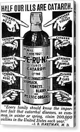 Catarrh Cure For What Ails You C. 1905 Acrylic Print by Daniel Hagerman