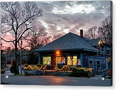 Cataumet Post Office Dressed For The Holidays Acrylic Print