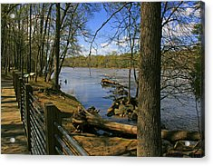 Acrylic Print featuring the photograph Catawba River Walk by Andy Lawless