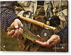 Catch And Release - D001102-b Acrylic Print by Daniel Dempster