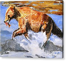 Acrylic Print featuring the painting Catch Of The Day by Judy Kay