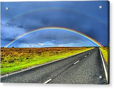 Catch The Rainbow Acrylic Print by Dave Woodbridge