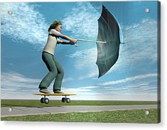 Catch The Wind Acrylic Print by Carol & Mike Werner