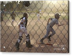 Catcher In Action Acrylic Print by Chris Thomas