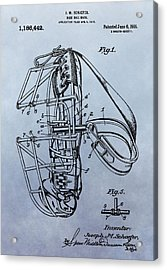 Catcher's Mask Patent Acrylic Print by Dan Sproul