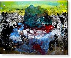Catching A Carp Acrylic Print by Aquira Kusume