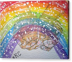 Catching A Rainbbow Acrylic Print by Kathy Marrs Chandler