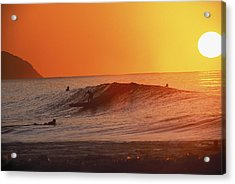 Catching A Wave At Sunset Acrylic Print by Vince Cavataio - Printscapes