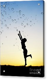 Catching Bubbles Acrylic Print